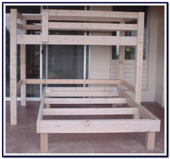 Full Size Loft Bed Building Plans