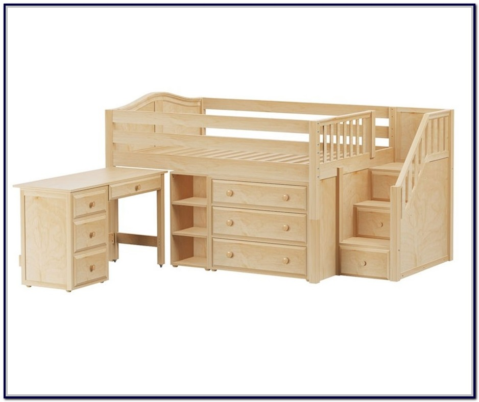 Full Size Loft Bed With Stairs And Storage