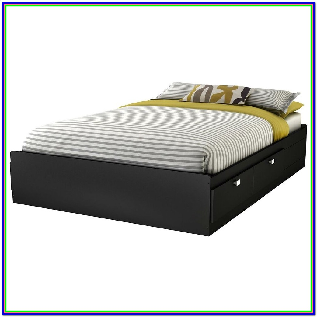 Full Size Platform Beds With Storage