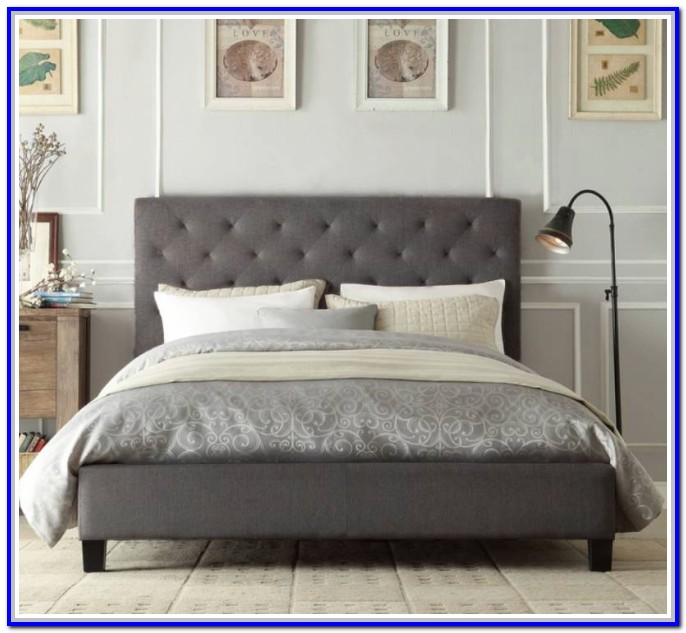Grey Fabric Bed Frame King