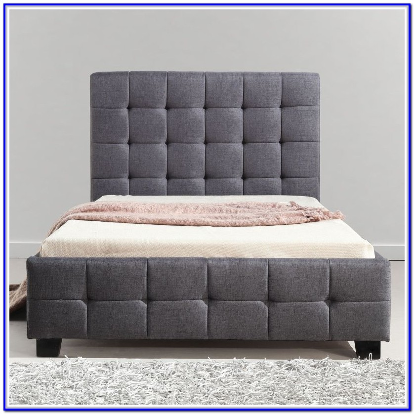 Grey Fabric Bed Frame Single