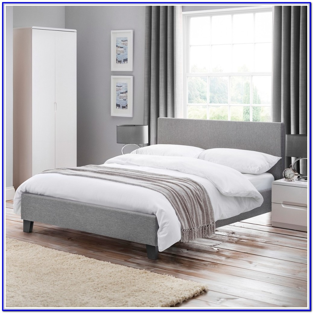 Grey Fabric Double Bed Frame Uk