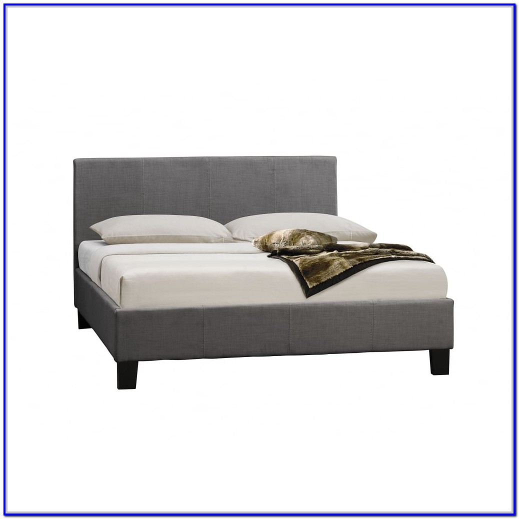 Grey Fabric Small Double Bed Frame