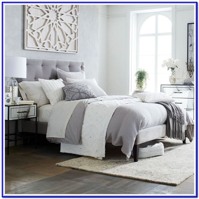 Grey Upholstered Bed Frame Full