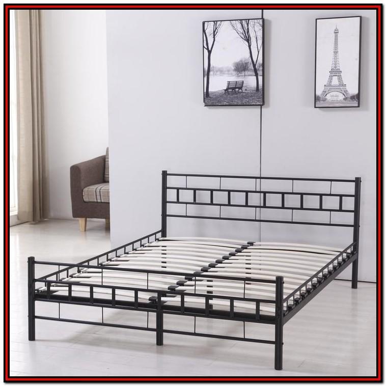 Heavy Duty Wood Platform Bed Frame King