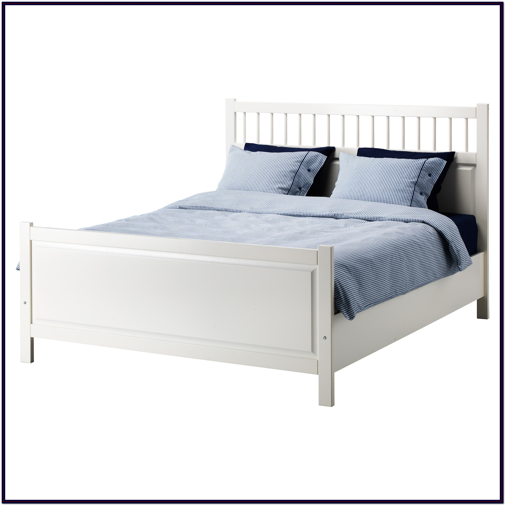 Ikea Hemnes White Queen Bed Frame