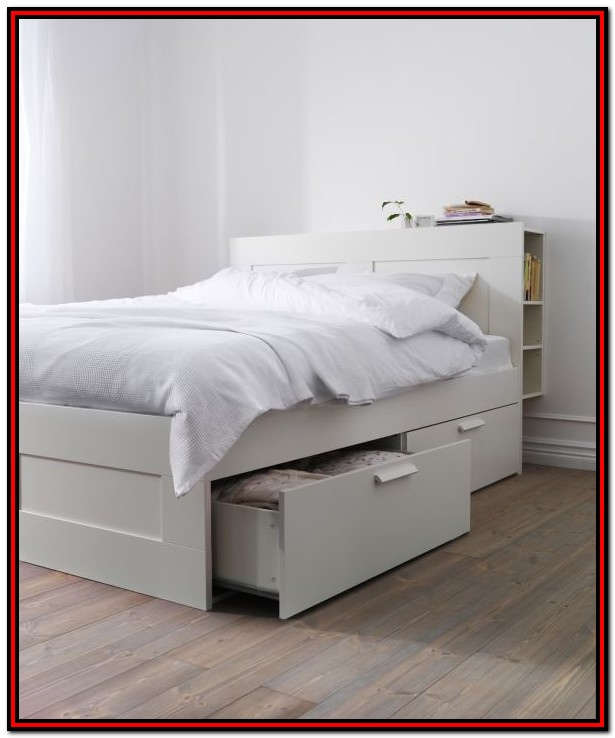 Ikea White Full Size Bed With Storage