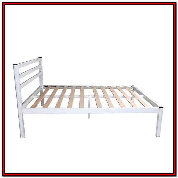 Intellibase Wood Slat Metal Bed Frame King