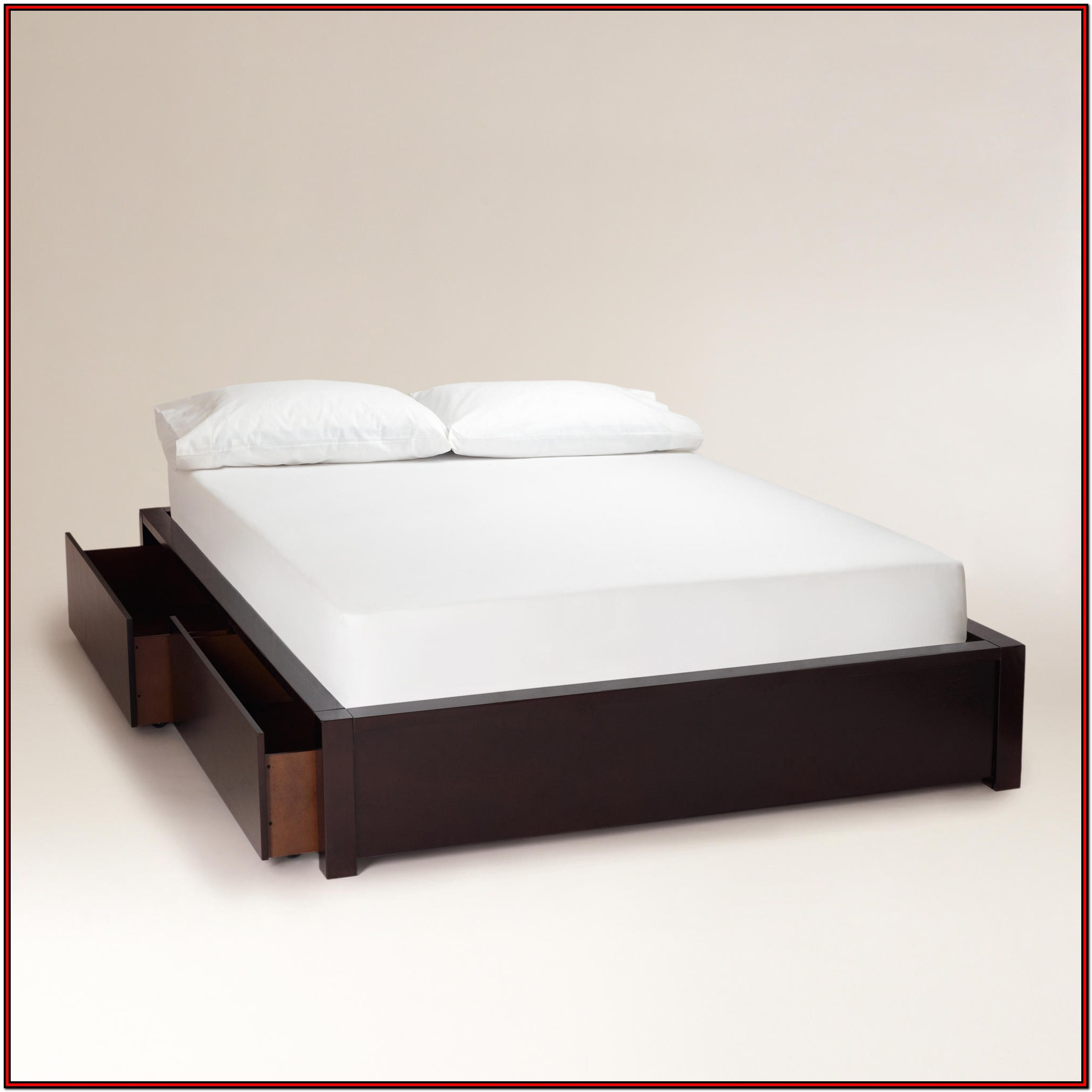 King Platform Bed Frame With Storage And Headboard