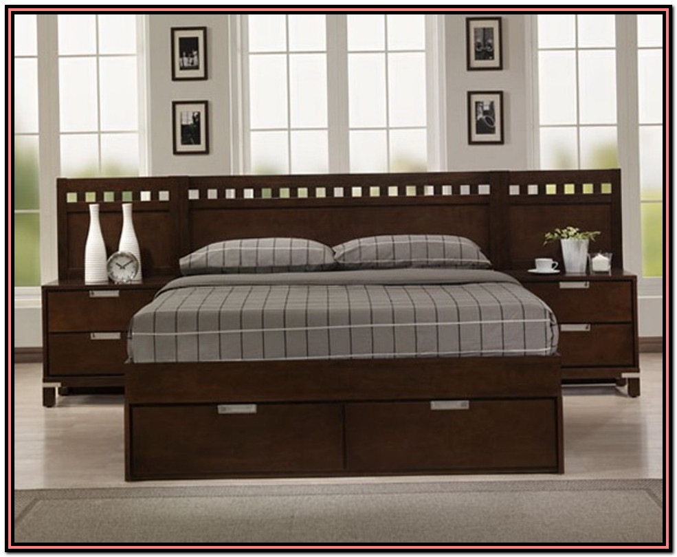 King Size Bed Frame And Headboard Set