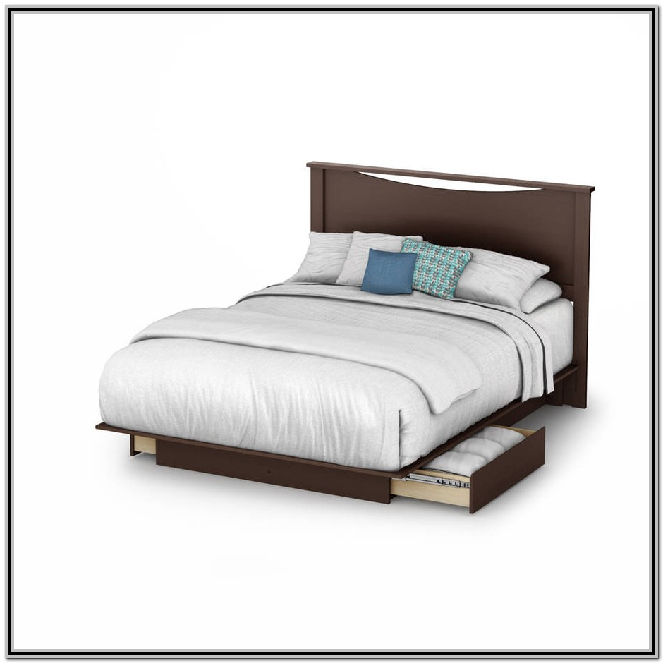 King Size Platform Bed With Side Drawers
