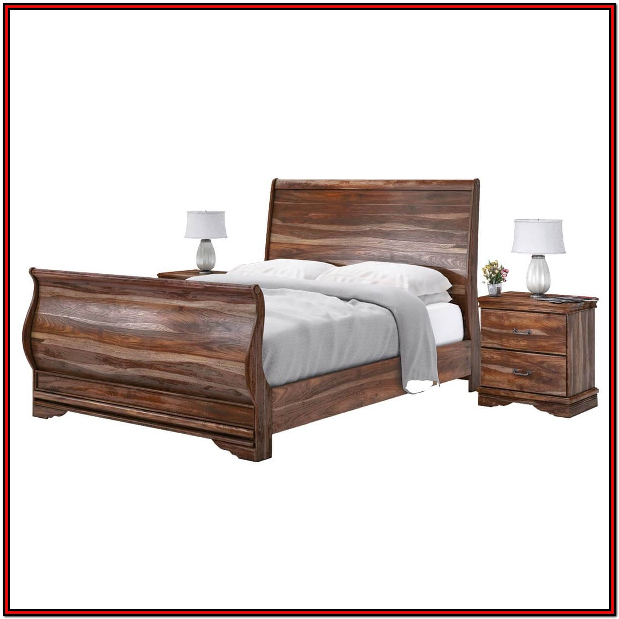 King Size Wooden Platform Bed Frame