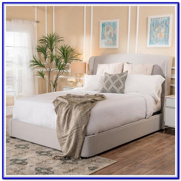 Light Grey Upholstered Bedroom Set