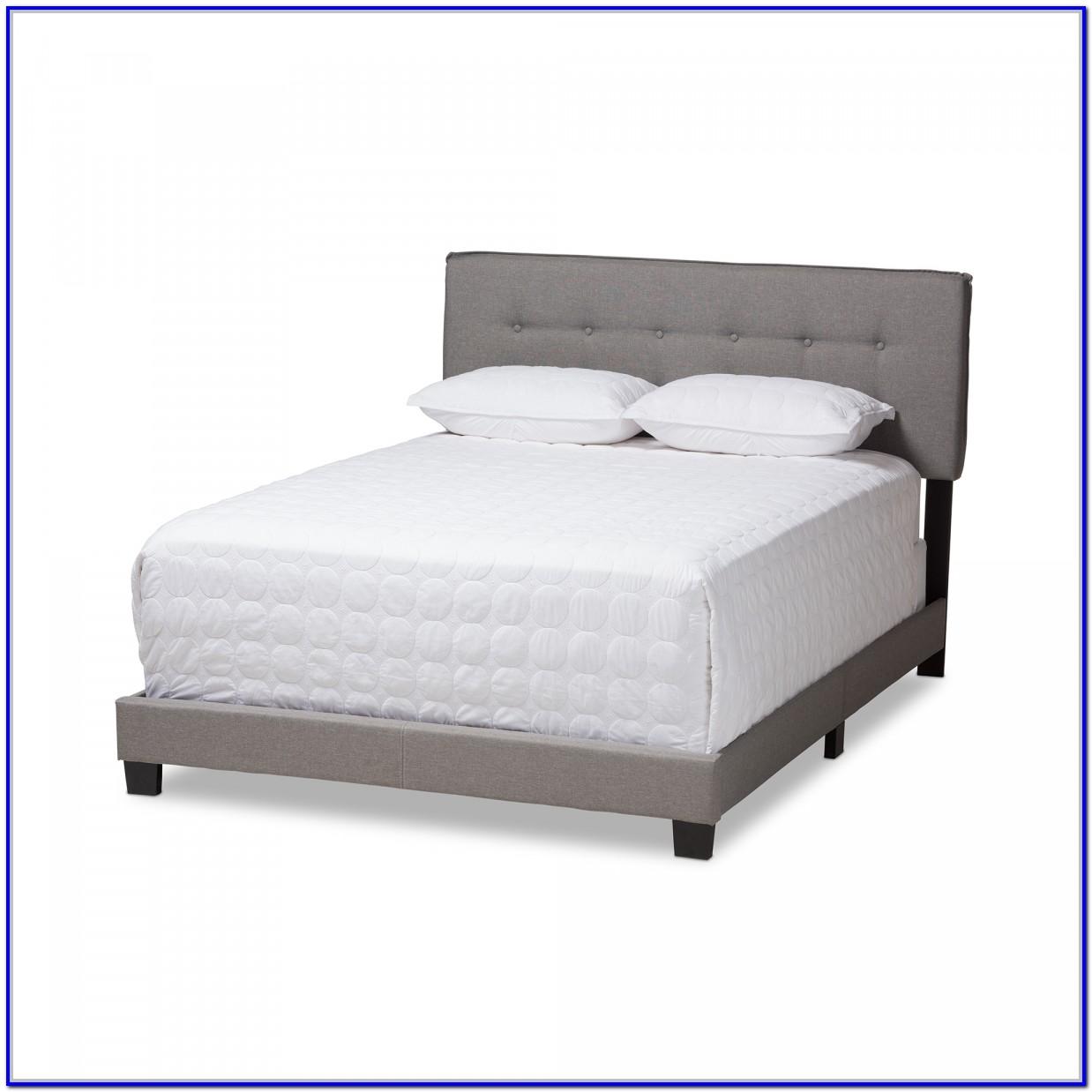 Light Grey Upholstered Queen Bed