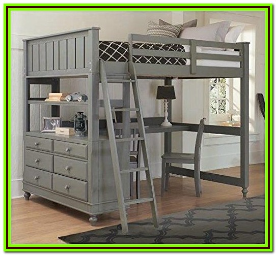 Loft Bed With Desk Full Size Mattress