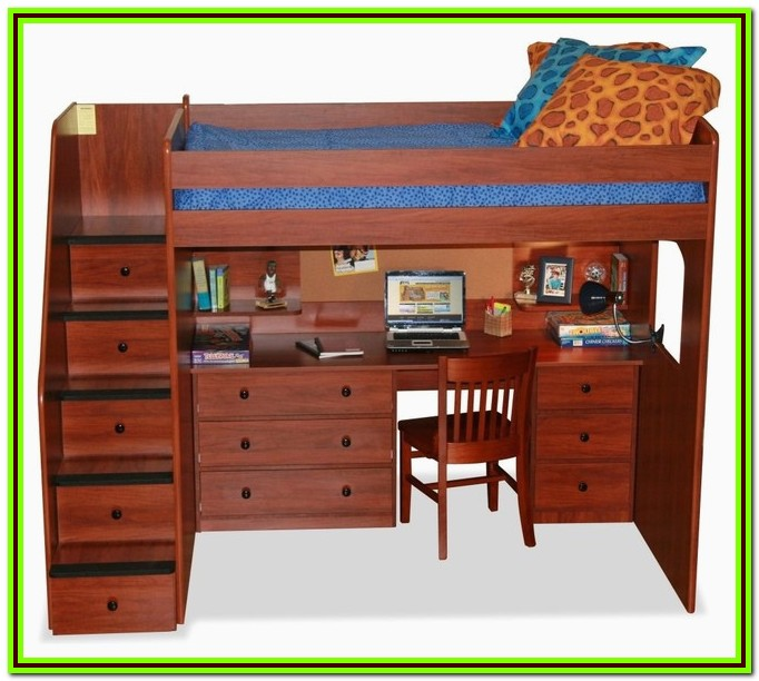 Low Loft Bed Full Size With Desk