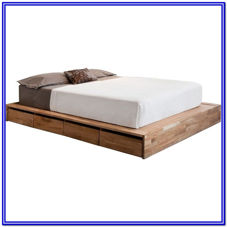 Low Platform Bed Frame With Storage
