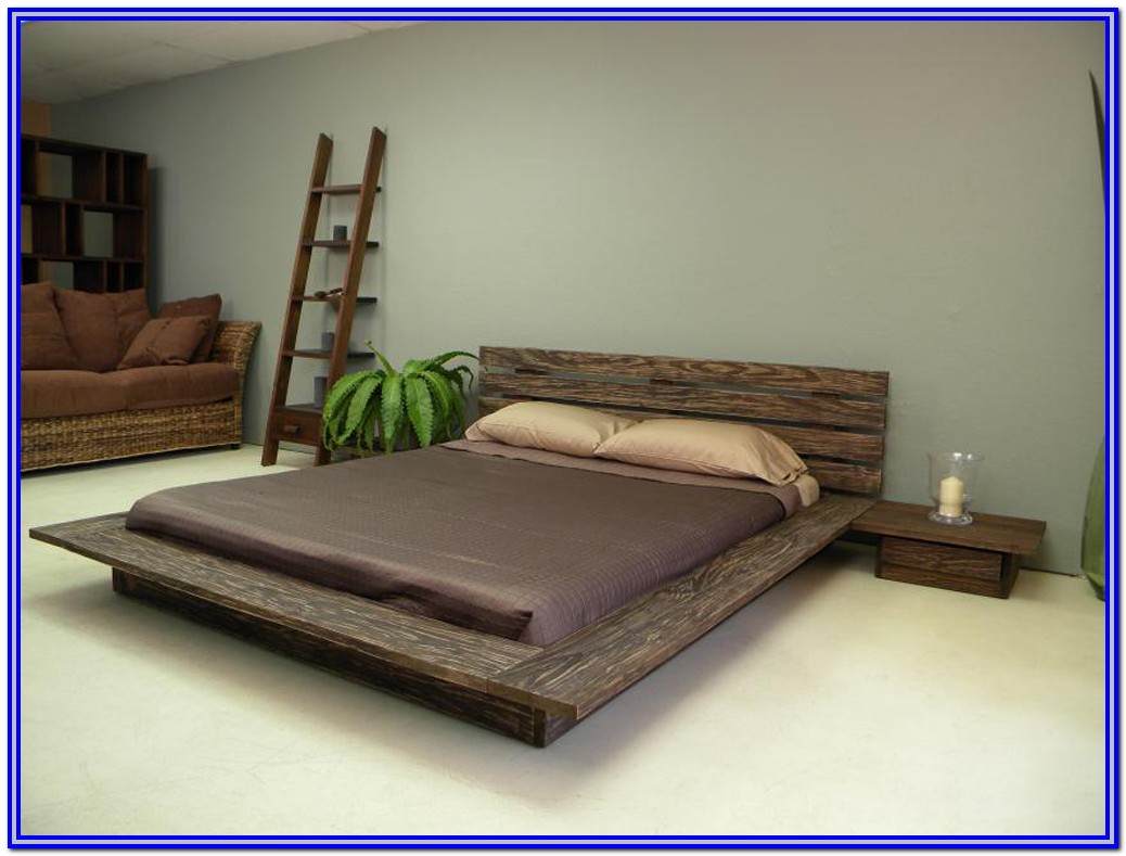 Low Platform Bed Frame Wood