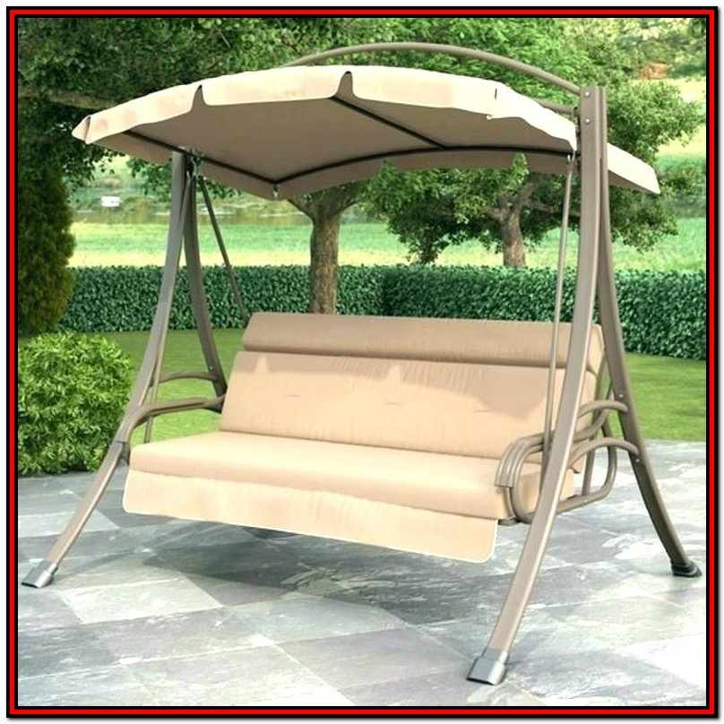 Mainstays Belden Park 3 Person Canopy Porch Swing Bed