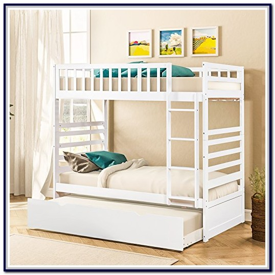 Merax Solid Wood Twin Over Twin Bunk Bed