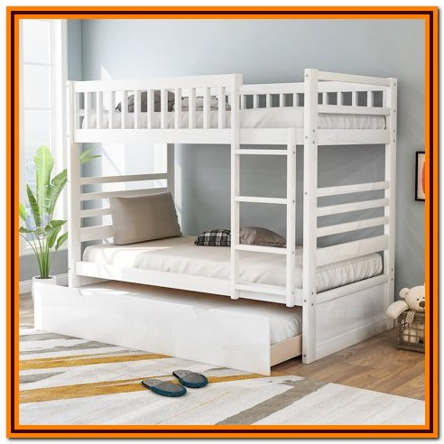 Merax Wood Bunk Bed Twin Over Twin Multiple Finishes With Trundle
