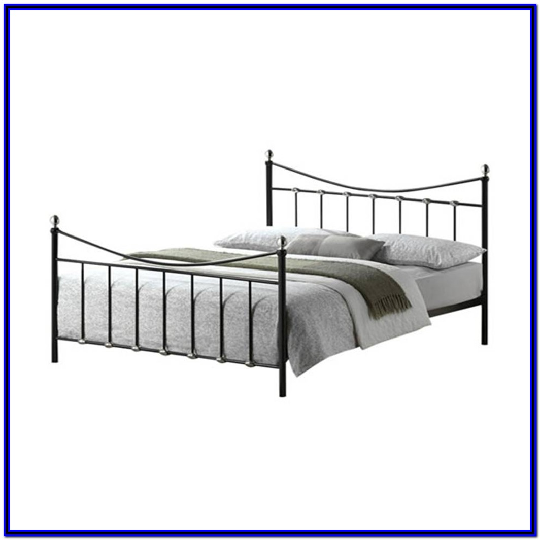 Metal Bed Frame King Black