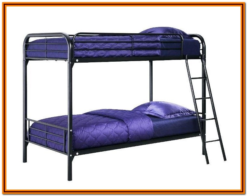 Metal Bunk Beds Twin Over Twin With Mattresses Included