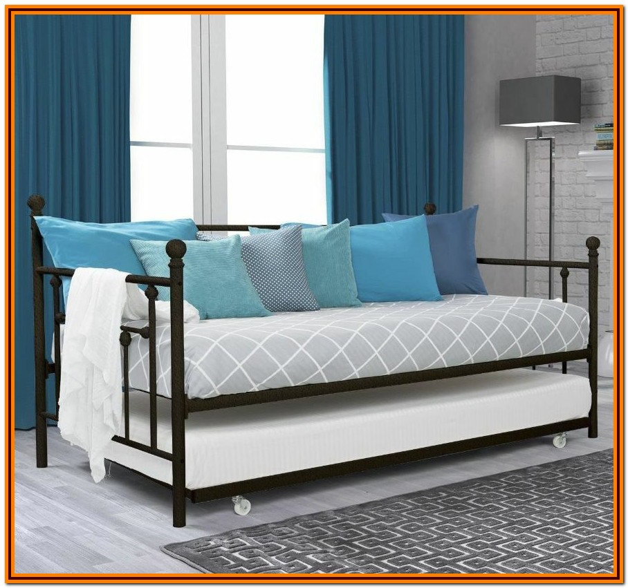 Metal Twin Bed Frame With Trundle
