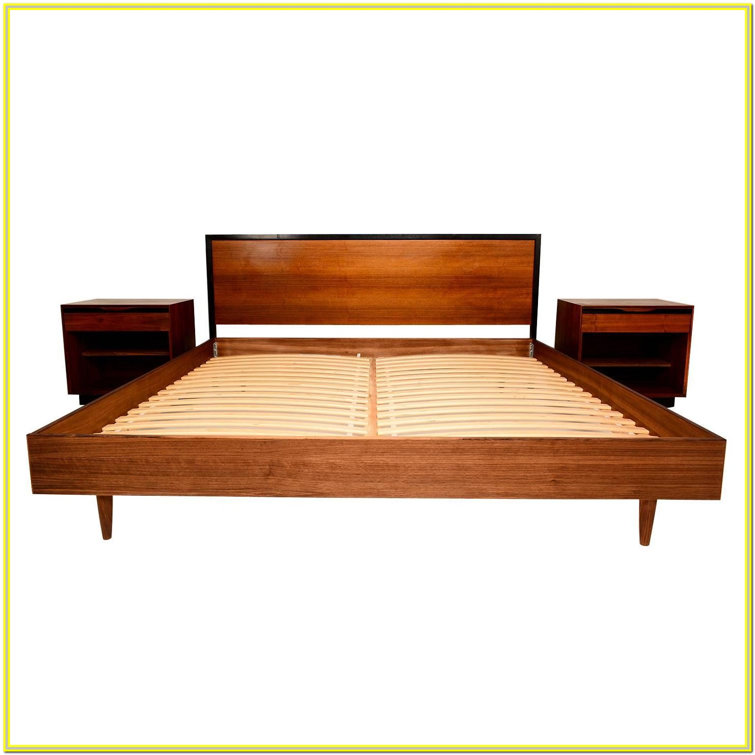 Mid Century King Platform Bed