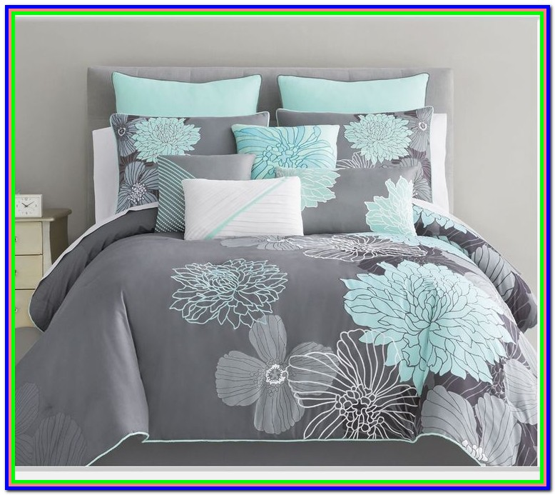 Mint Green And Gray Baby Bedding