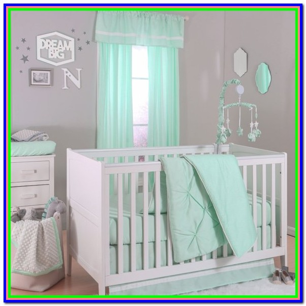 Mint Green Crib Bedding Sets