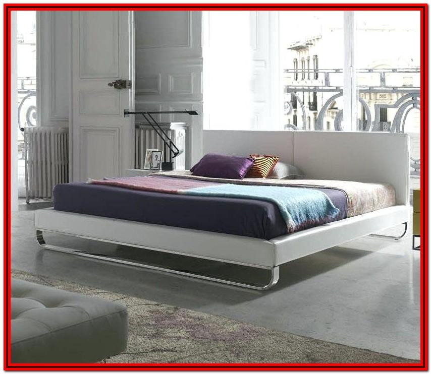 Novogratz Brittany Upholstered Platform Bed Frame Blue Linen King
