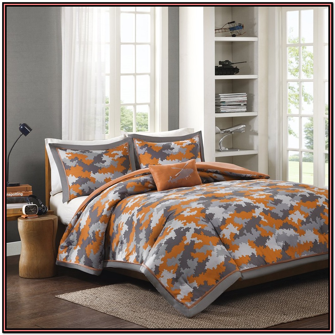 Orange And Gray Bedding Sets