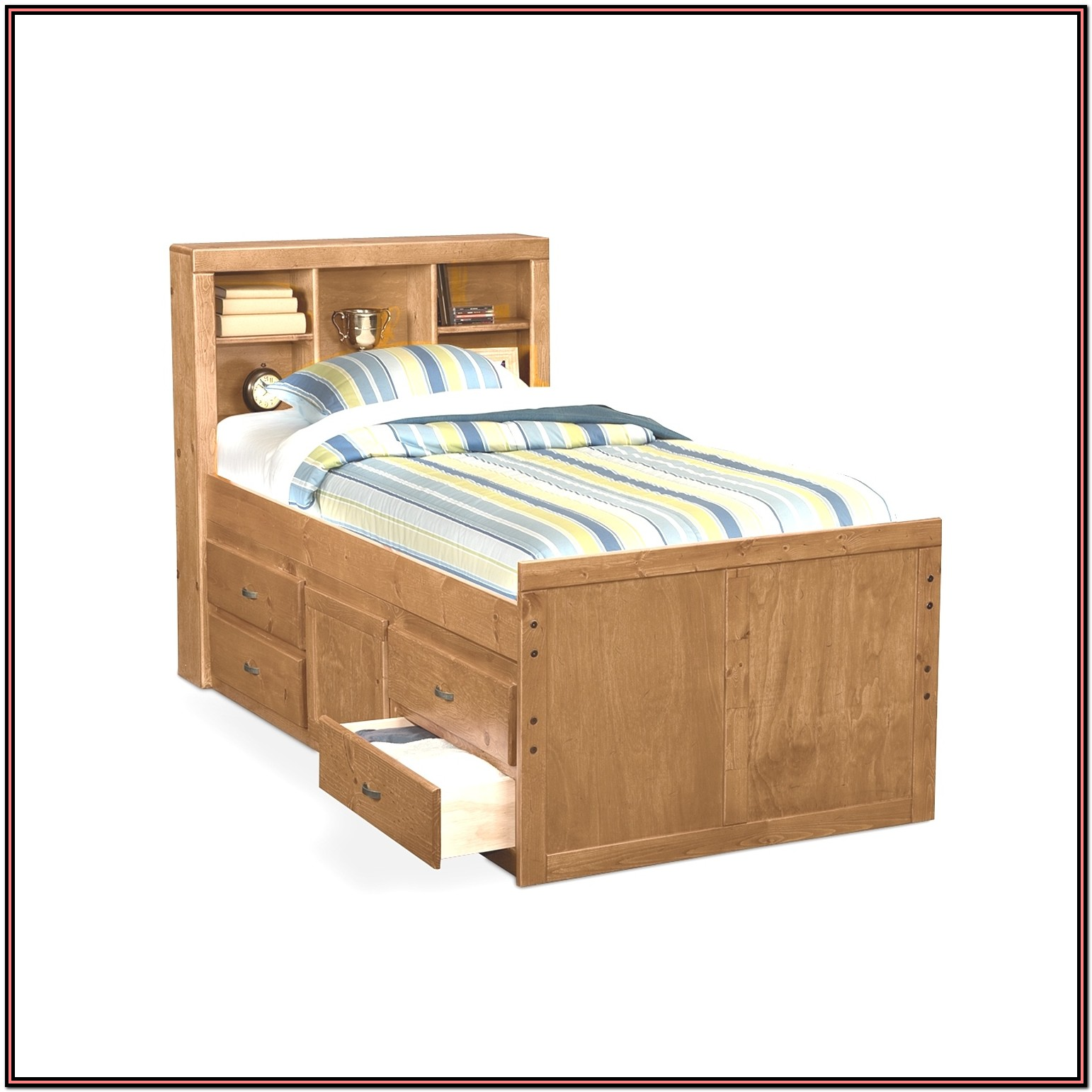 Twin Platform Bed With Drawers Plans Bedroom Home
