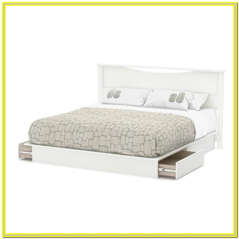 Platform Beds With Drawers And Headboard