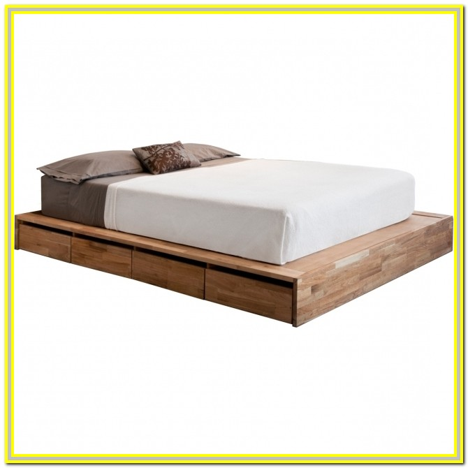 Platform Beds With Drawers Full Size