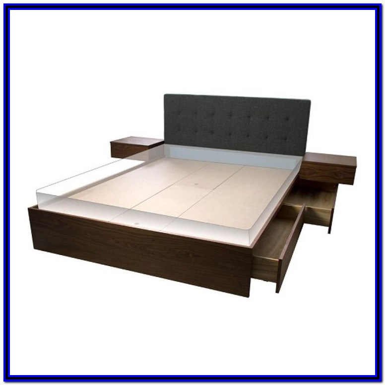 Queen Bed Frame With Drawers Canada