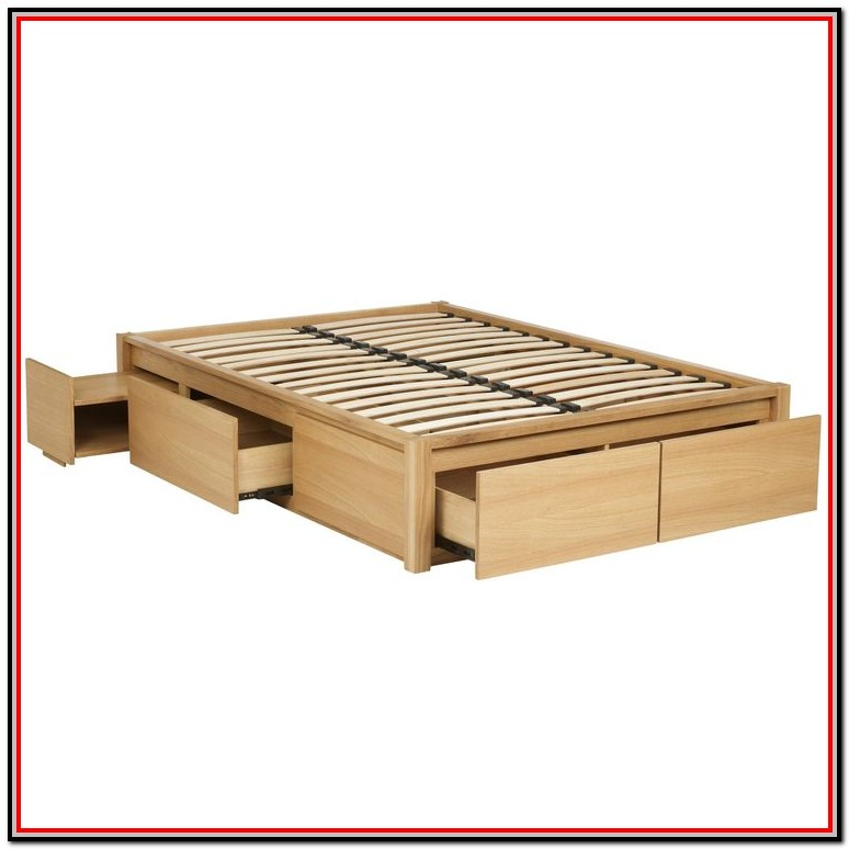Queen Size Bed With Drawers Plans