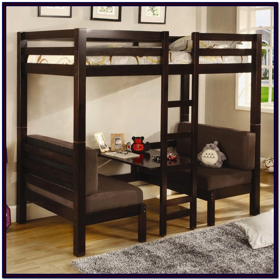 Queen Size Bunk Bed With Desk Underneath