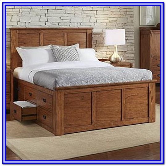 Queen Size Captains Bed Plans