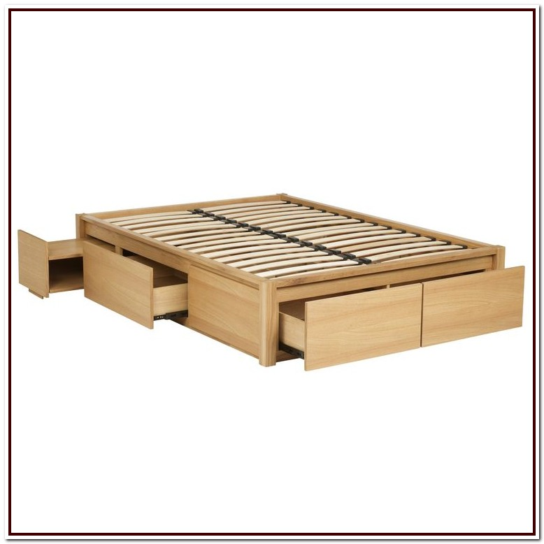 Queen Size Metal Platform Bed Frame