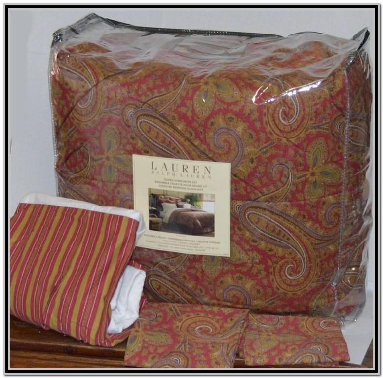 Ralph Lauren Blue Paisley Comforter Set
