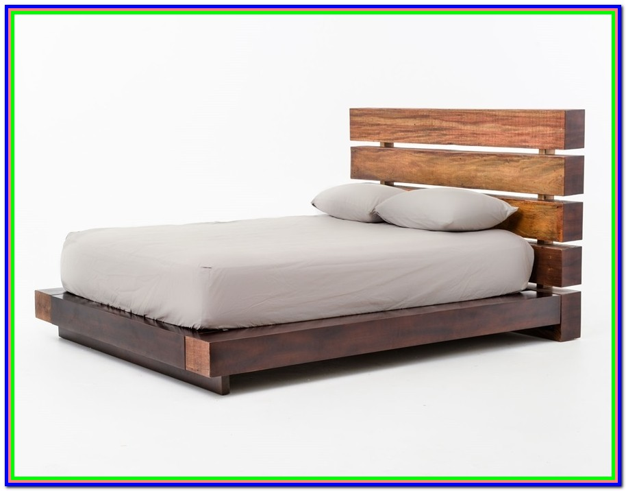 Real Wood Queen Platform Bed Frame