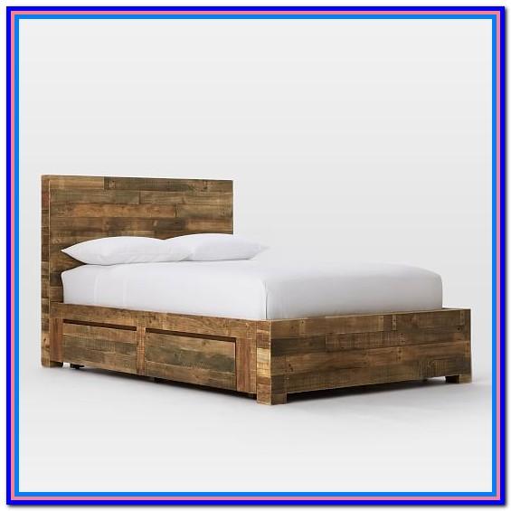 Reclaimed Wood Platform Storage Bed