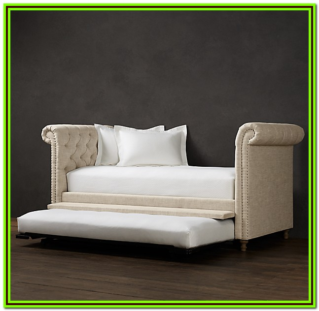 Restoration Hardware Twin Bed With Trundle