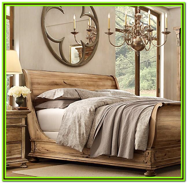 Restoration Hardware Twin Sleigh Bed