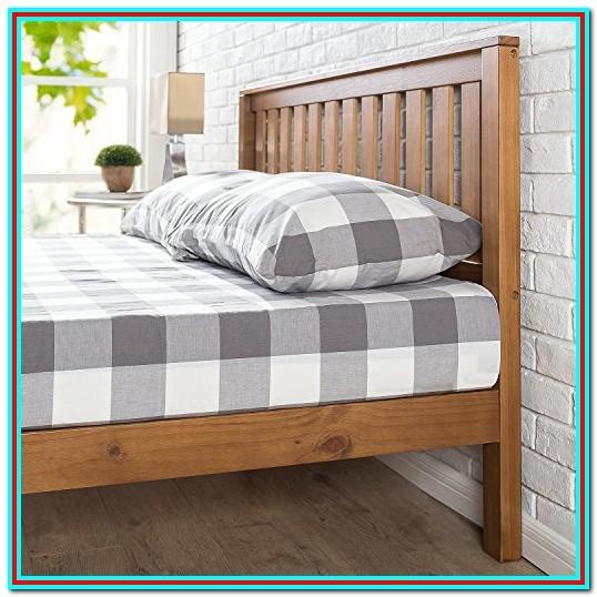Rustic Pine Wood Platform Bed Frame With 12 Storage Space