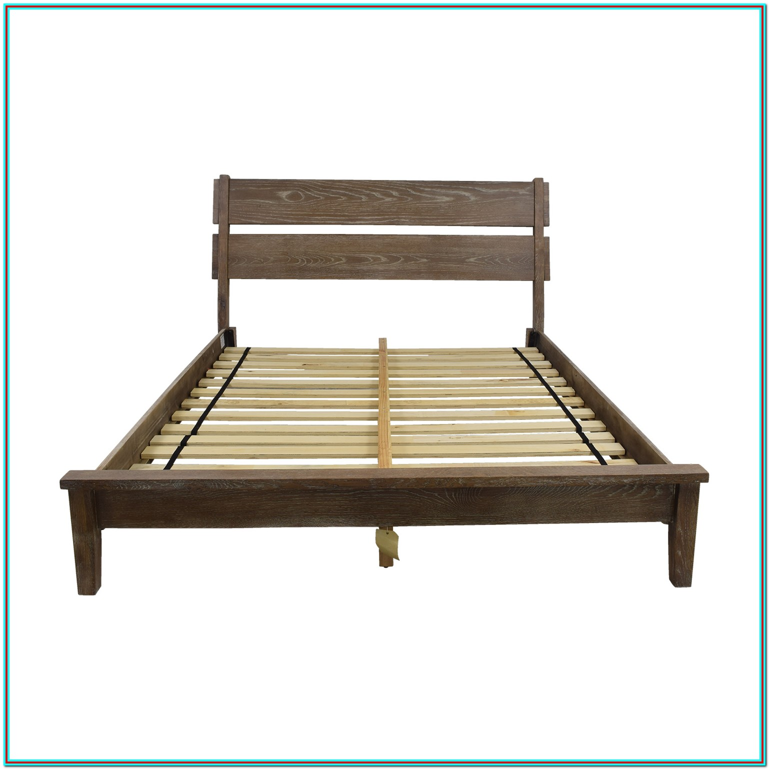 Rustic Platform Bed Frame Queen