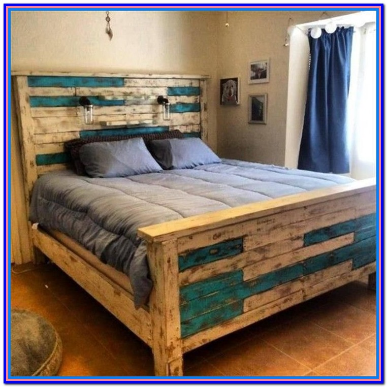 Rustic Wood Bed Frame Diy