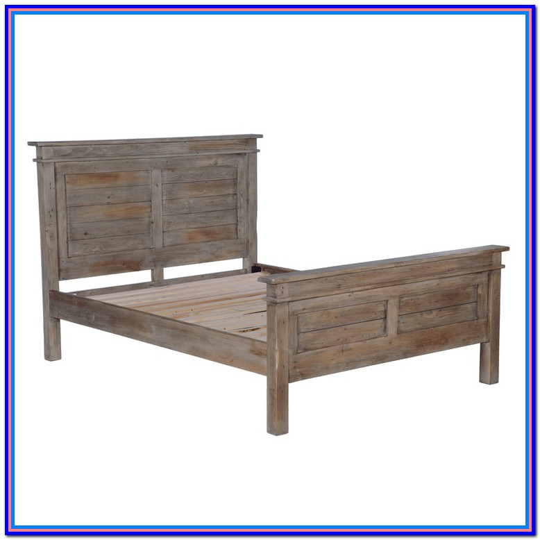 Rustic Wood Bed Frame King